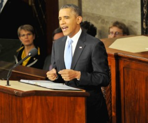 President Barack Obama, speaking before a Joint Session of Congress, Tuesday, January 28th, 2014 in the United States Capitol, Washington D.C.