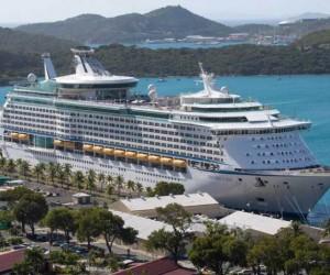 The Royal Caribbean International's Explorer of the Seas is docked at Charlotte Amalie Harbor in St. Thomas, U. S. Virgin Islands, Sunday, Jan. 26, 2014.