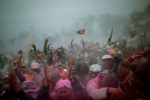 Guyanese and Trinidadians Of Queens, NY celebrate Phagwah or Holi, the Spring Festival, in March 2013.