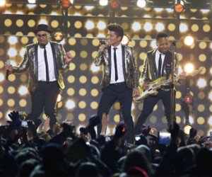 Bruno Mars at Super Bowl XLVIII