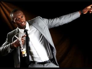 Usain Bolt with the 2013 Laureus Award