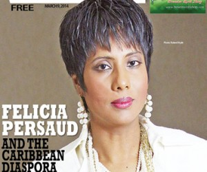 Felicia Persaud as seen on the cover of .Express Woman..