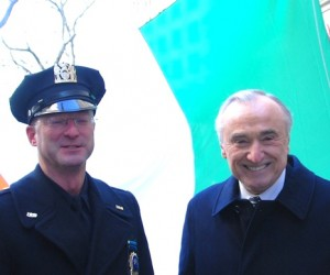 Police Commissioner Bill Bratton joined the President of the Gay Officers Action League.