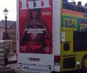 rihanna bus ad of lui of instagram