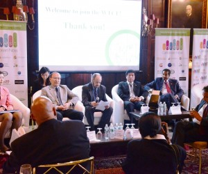 "Dr. Ma Lin, Deputy Secretary-General of the Beijing Municipal Government, second from right and Mr. Cao, Pengcheng, Vice Chairman of the  Beijing Municipal Commission of Tourism Development were among the panellists on the ""Bejing-Caribbean Tourism And Investment Opportunity"" panel at Invest Caribbean Now 2014. (Sharon Bennett/ICN image)"