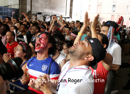 USA Supporters in Dumbo Brooklyn NY