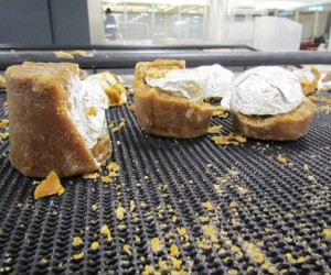 Cocaine in sugar cane sweets