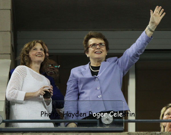Billie Jean King at U.S. Open-hayden-roger-celestin 2014