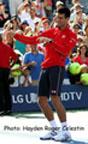 Novak Djokovic on Aug. 28th 2014 at the US Open