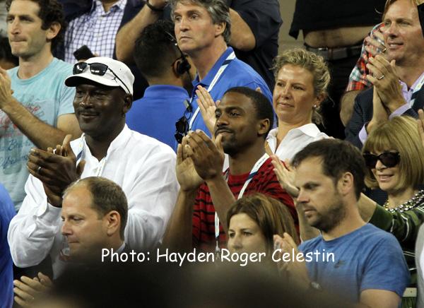 Michael Jordan And Son At US Open