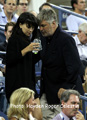 Alec Baldwin and his wife Hilaria  at US Open 2014