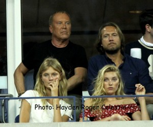 Michael Kors and guest  at 2014 US Open