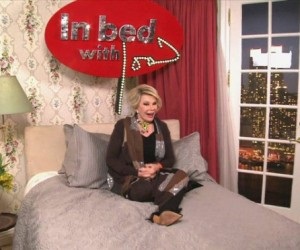 Joan Rivers on her no holds barred Internet chat show 'In Bed With Joan.'