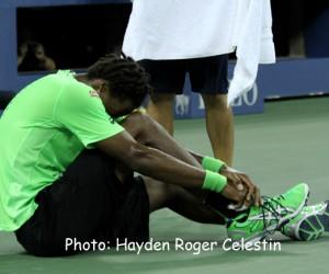 Gaël Sébastien Monfils after losing the quarter finals of the US Open on Sept. 4, 2014.