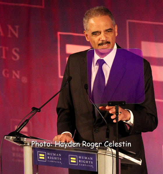 The U.S.' first black Attorney General Eric Holder.