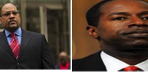 Senators John Sampson, l, and Malcolm Smith, r.