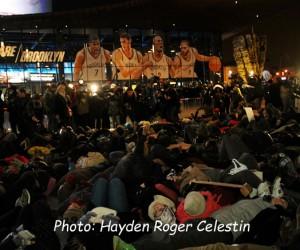 Rally at Barclays Center Brooklyn NY
