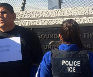 Pablo Alvaro Silos being deported by US ICE officers. (US ICE image)