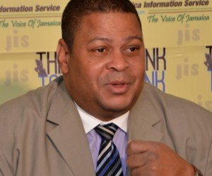 . Vice President for Export and Market Development at Jamaica Promotions Corporation (JAMPRO), Robert Scott, highlights initiatives being undertaken to develop the local film industry, at a JIS Think Tank session