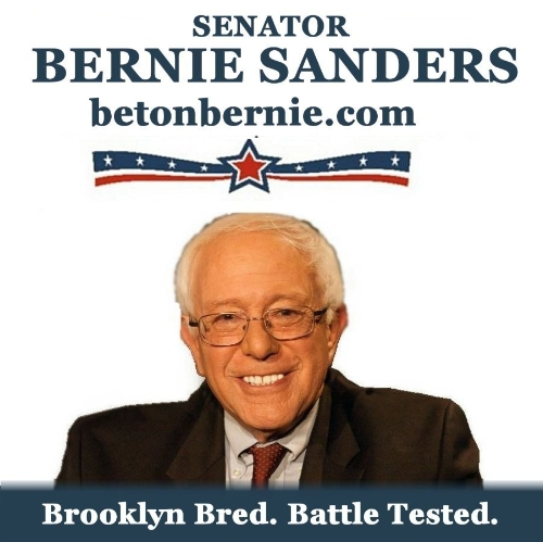 BETONBERNIE.COM: Sen. Bernie Sanders for president. Born & bred in Brooklyn. 30+ years in Congress, not a flaw. The world is ours. GO VOTE! (PRNewsFoto/Cyber Media Services)
