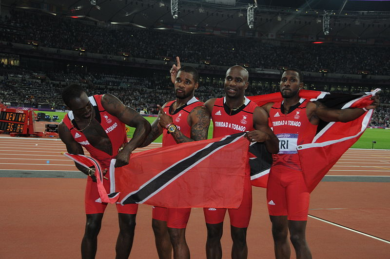 The Trinidad and Tobago relay team, which finished third in the 4x100-m relay in the 2012 U.S. Olympic Games in London