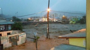 Erika brought severe flooding to Dominica.