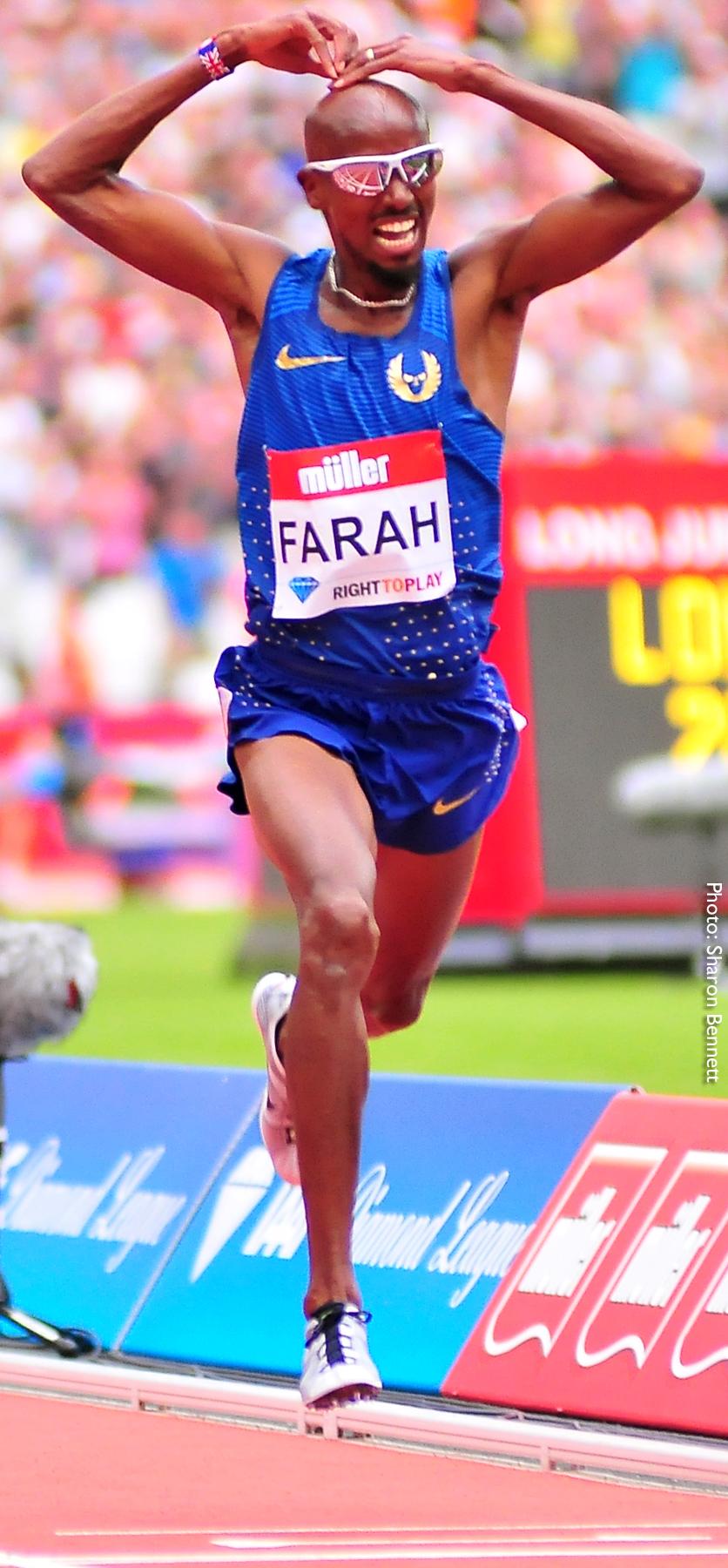 Breaking the world lead Farah Mo at Muller Anniversary Games, IAAF Diamond League in London 23 July 2016.