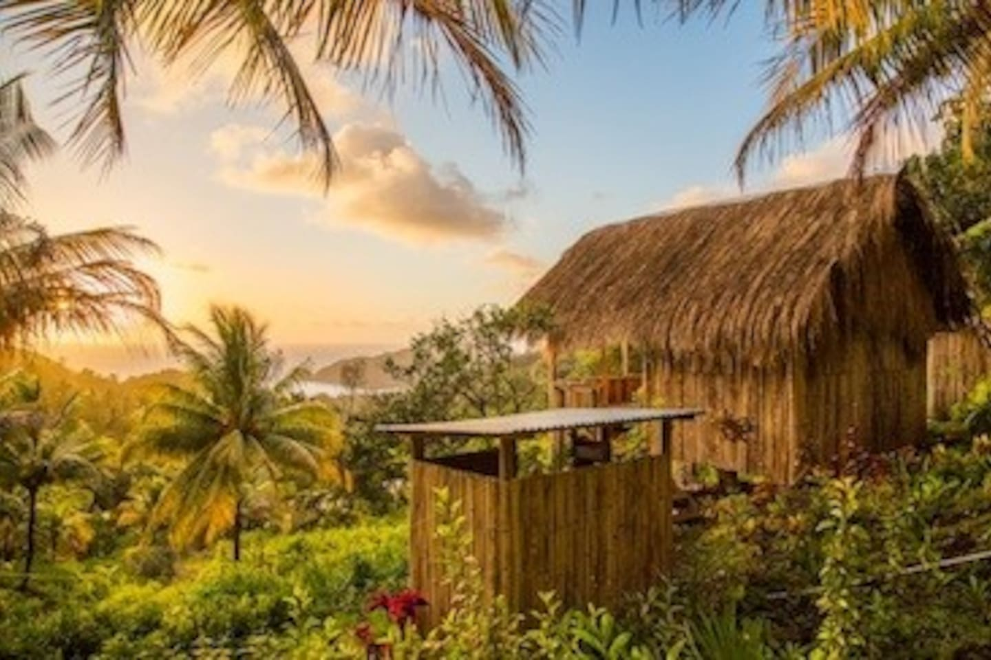 Airbnb-Kalinago grass-roofed-hut-Dominica.