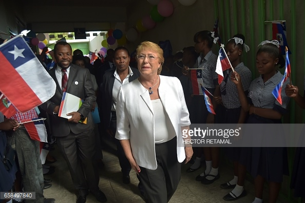 Chile-president-in-Haiti