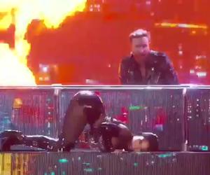 Nicki Minaj's 2017 Billboard Performance. (Twitter image)