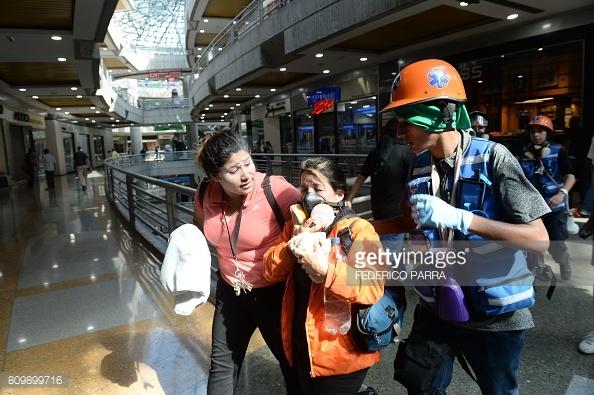 venezuela-mall-tear-gassed