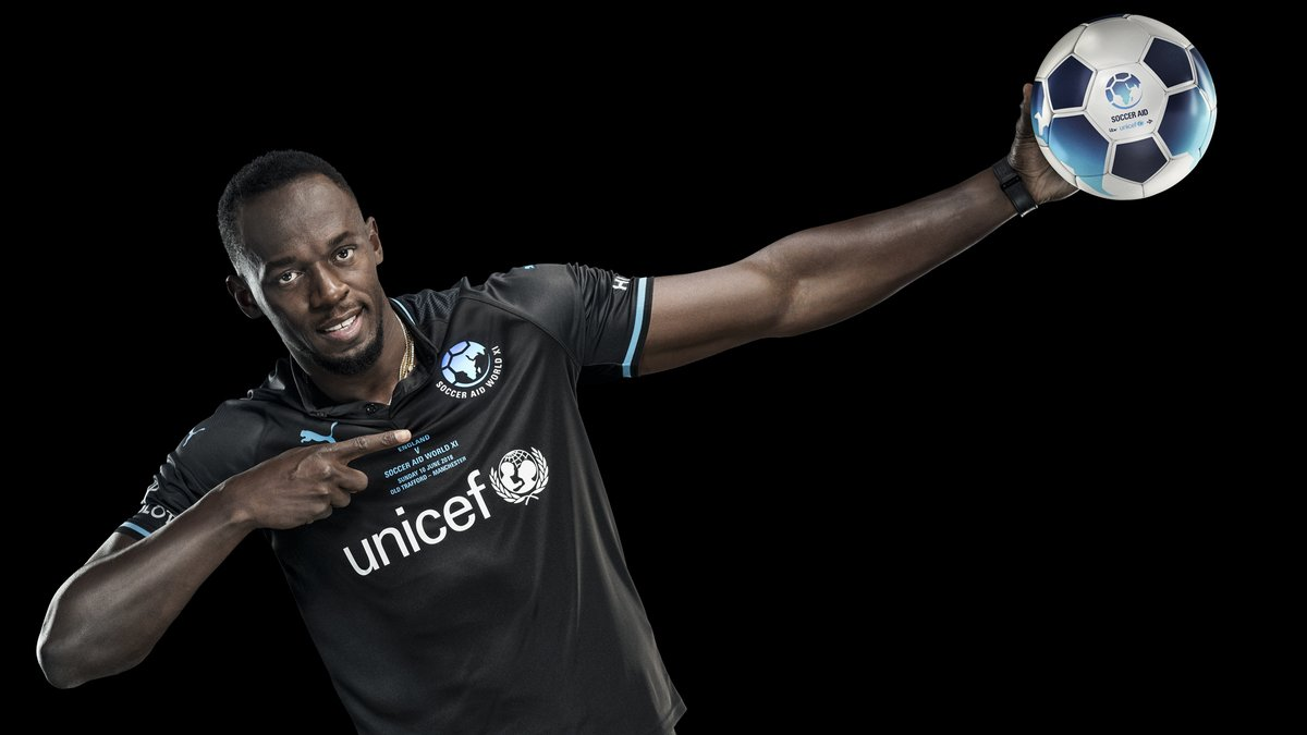 Usain Bolt to make debut at Old Trafford for UNICEF's Soccer Aid