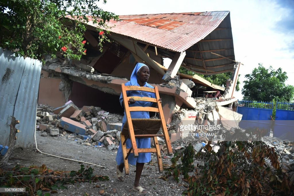 nun-in-haiti-after-2018-earthquake