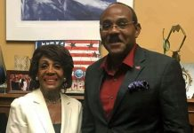 ANTIGUA-PM-AND-MAXINE-WATERS