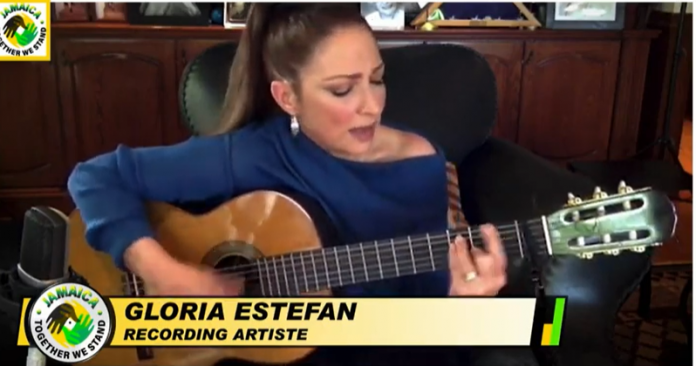 gloria-estefan-performing-at-jamaica-telethon
