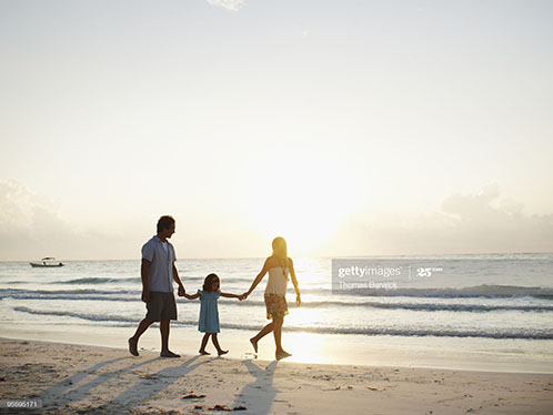 family-on-latin-america-beach