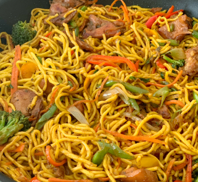 caribbean-recipes-guyana-style-chowmein